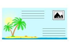 Der Umschlag mit der tropischen Landschaft. Lizenzfreies Stockfoto