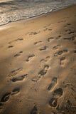 Der unbekannte Abdruck auf dem Strand von Brighton-Strand von Melbourne, Australien Lizenzfreie Stockbilder