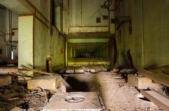 Der unfertige 5. Block des Atomkraftwerks Tschornobyls Stockfotografie