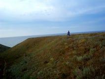 Der ungewöhnliche Auftritt der Landschaft und des Meeres stockbild