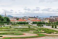 Der untere Belvedere und die Gärten in Wien, Österreich Stockbild