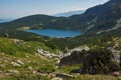 Der untere See, die sieben Rila Seen, Rila-Berg Stockfoto