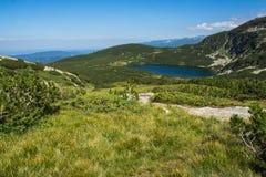 Der untere See, die sieben Rila Seen, Rila-Berg Lizenzfreies Stockbild