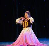 Der Uygur-Mädchenvolktanz Stockbild