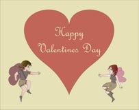 Der Valentinsgruß des Amors vektor abbildung