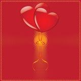 Der Valentinstag   Lizenzfreie Stockfotografie