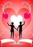 Der Valentinstag Lizenzfreies Stockfoto