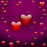 Der Valentinstag, vector abstrakten Hintergrund Lizenzfreie Stockfotografie