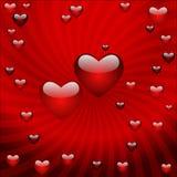 Der Valentinstag, vector abstrakten Hintergrund Lizenzfreies Stockfoto