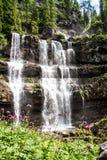 Der Vallesinella-Wasserfall in den Dolomit von Trentino, Italien Stockfoto