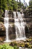 Der Vallesinella-Wasserfall in den Dolomit von Trentino, Italien Lizenzfreies Stockfoto