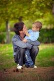 Der Vater und der Sohn Lizenzfreie Stockbilder