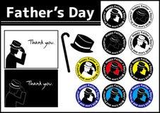 Der Vatertags-Ikone Auch im corel abgehobenen Betrag stock abbildung