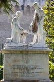 DER VATIKAN 20. SEPTEMBER: Bildhauerische Gruppen in den Gärten von Vatikan am 20. September 2010 in Vatikan, Rom, Italien Lizenzfreie Stockfotografie
