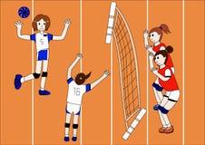 Der Vektor des Volleyball-Teams Stockbilder