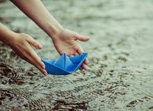 Der vektorentwurf des Herstellungspapierplans - origami Stockfotografie