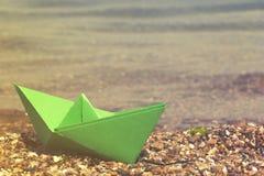 Der vektorentwurf des Herstellungspapierplans - origami Lizenzfreie Stockbilder