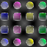 Der Vektorsatz von transparenten Fahnen der Dekoration Lizenzfreies Stockbild