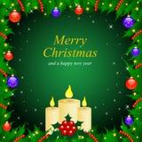 Der Vektorweihnachts- u. Neu-Jahregrußkarte Stockfoto