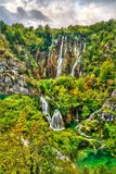 Der Veliki-Klaps-Wasserfall in den Plitvice Seen Nationalpark, Kroatien stockfotos