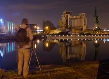 Der vergessene Hafen in Gent, verlassene Fabrik Stockfoto