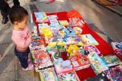 Der Verkauf der Spielwaren der Kinder Lizenzfreies Stockbild