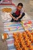 Der Verkauf der Spielwaren der Kinder Stockfoto