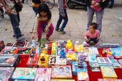 Der Verkauf der Spielwaren der Kinder Lizenzfreie Stockbilder