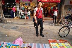 Der Verkauf der Spielwaren der Kinder Stockfotografie