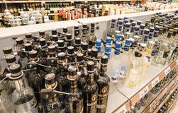 Der Verkauf des Alkohols Lizenzfreies Stockfoto