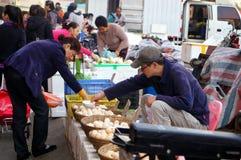 Der Verkauf des Eies Stockfotografie