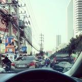 Der Verkehr in Bangkok Lizenzfreie Stockfotografie
