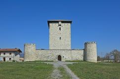 Der verstärkte Kontrollturm von Mendoza (XIII Jahrhundert) Lizenzfreie Stockfotos
