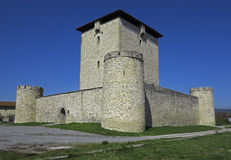 Der verstärkte Kontrollturm von Mendoza (XIII Jahrhundert) Stockfotos