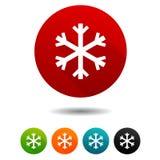 Der verzierte Pelzbaum Schneeflockenzeichen Schneesymbol Vektor-Kreisnetzknöpfe lizenzfreie abbildung