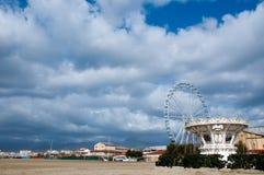 Der viareggio Strand im Oktober Lizenzfreie Stockfotos