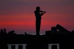 Der Violinen-Spieler Stockbilder