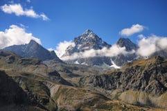 Der Viso-Berg Alpen-Piemont-Standort von der Po-Frühling Stockfoto