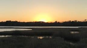 Der vollkommene Sonnenuntergang Stockbild