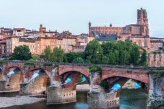 22. der vom August 1944-Brücke in Albi, Frankreich Stockfotografie