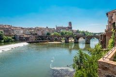 22. der vom August 1944-Brücke in Albi, Frankreich Lizenzfreie Stockbilder
