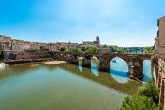 22. der vom August 1944-Brücke in Albi, Frankreich Lizenzfreies Stockfoto