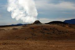 Der Vulkan in Island Stockbilder