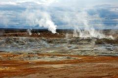Der Vulkan in Island Stockfoto