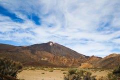 Der Vulkan Pico del Teide auf dem Teneriffa lizenzfreie stockbilder