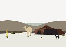 In der Wüste lizenzfreie abbildung