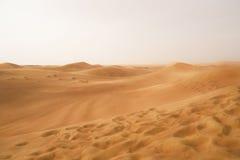 Der Wüstensand in Dubai Lizenzfreies Stockfoto