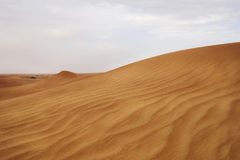 Der Wüstensand in Dubai Stockfoto