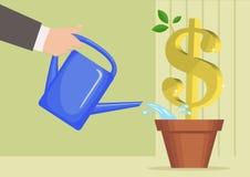 Der wachsende Dollar Lizenzfreie Stockfotos