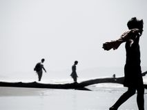 Der Wanderer Stockfotografie